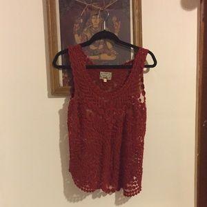 Sheer Crimson Top - Yoana Baraschi